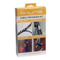 D-Line Cable Organizer Kit incl. Wrap, Clips, Bands & Bases - Black
