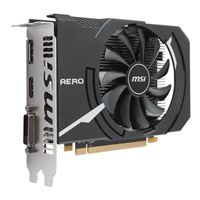 MSI Radeon RX 550 AERO ITX Overclocked Single-Fan 2GB GDDR5 PCIe 3.0 Graphics Card