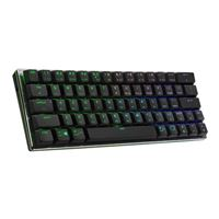 Cooler Master SK622 Wireless 60% Mechanical Keyboard with Low Profile Blue Switches, New and Improved Keycaps, and Brushed Aluminum Design