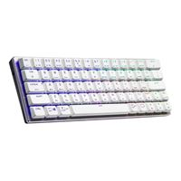 Cooler Master SK622 White Wireless 60% Mechanical Keyboard with Low Profile Red Switches, New and Improved Keycaps, and Brushed Aluminum Design
