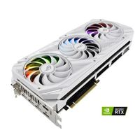 ASUS NVIDIA GeForce RTX 3090 ROG Strix White Overclocked Triple-Fan 24GB GDDR6X PCIe 4.0 Graphics Card