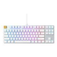 Glorious PC Gaming Race Glorious Modular Mechanical Gaming Keyboard - TENKEYLESS (87 Key) - RGB LED Backlit, Brown Switches, Hot Swap Switches (White) (GLO-GMMK-TKL-BR)