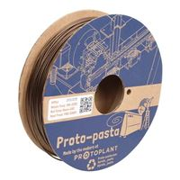 ProtoPlant 1.75mm Double Espresso Metallic Brown HTPLA 3D Printer Filament - 0.5kg Spool (1.1lbs.)