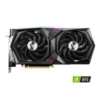 MSI NVIDIA GeForce RTX 3060 Gaming X Overclocked Dual-Fan 12GB GDDR6 PCIe 4.0 Graphics Card