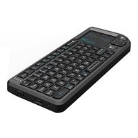 Riitek Rii X1 2.4G Mini Wireless Keyboard with Touchpad Mouse, Lightweight Portable Wireless Keyboard Controller with USB Receiver Remote Control for Windows/ Mac/ Android/ PC/ Tablets/ TV/ Xbox/ PS3 - Black