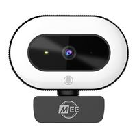 Meeaudio CL8A 1080p Live Webcam with LED Ring Light