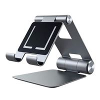 Satechi R1 Aluminum Multi-Angle Foldable Tablet Stand - Compatible with 2020/2018 iPad Pro, 2020 iPad Air, iPhone 12 Pro Max/12 Mini/12, 11 Pro Max/11 Pro, Xs Max/XS/XR/X, 8 Plus/8 (Space Gray)