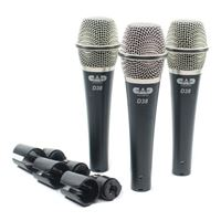 CAD Audio Audio CADLive D38 Supercardioid Dynamic Microphone - 3-Pack