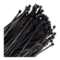 "The Best Connection 8"" Nylon Wire Tie, 18lb Tensile Strength, 100 pack - Black"