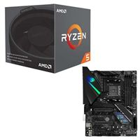 AMD Ryzen 5 2600X with Wraith Spire Cooler, ASUS ROG Strix X470-F Gaming CPU/Motherboard Bundle