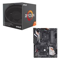 AMD Ryzen 7 2700 with Wraith Spire Cooler, Gigabyte X470 AORUS Gaming 7 CPU/Motherboard Bundle