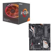AMD Ryzen 7 2700X with Wraith Prism Cooler, Gigabyte X470 AORUS Gaming 7 CPU/Motherboard Bundle