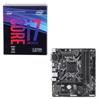 Intel Core i7-8700K, Gigabyte B360M DS3H, CPU/Motherboard Bundle