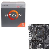 AMD Ryzen 5 2400G with Wraith Stealth Cooler, Gigabyte GA-A320M-S2H, CPU/Motherboard Bundle