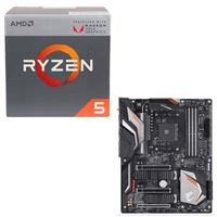 AMD Ryzen 5 2400G with Wraith Stealth Cooler, Gigabyte X470 AORUS GAMING 7, CPU/Motherboard Bundle