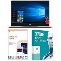 Dell Inspiron 13 7370 5937, 1 Year Office 365 Home, 1 Year NOD32 Antivirus, Laptop Bundle
