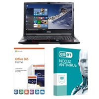 MSI GP63 Leopard-033, 1 Year Office 365 Home, 1 Year NOD32 Antivirus, Laptop Bundle