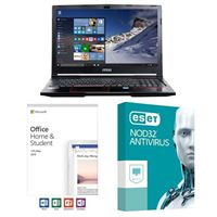 MSI GP63 Leopard-033, Office 2019 Home and Student, 2 Year NOD32 Antivirus, Laptop Bundle