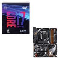 Intel Core i7-8700K, Gigabyte Z390 Aorus Elite, CPU / Motherboard Bundle