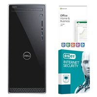 Dell Inspiron 3670-5781 Desktop Computer, Office 2019 Home and Business, 3 Year ESET Internet Security, Desktop Computer Bundle