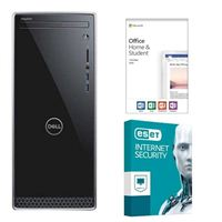 Dell Inspiron 3670-5767 Desktop Computer, Office 2019 Home and Student, 3 Year ESET Internet Security, Desktop Computer Bundle