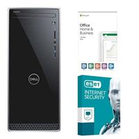 Dell Inspiron 3670-5767 Desktop Computer, Office 2019 Home and Business, 3 Year ESET Internet Security, Desktop Computer Bundle