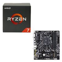AMD Ryzen 7 1700X, Gigabyte B450M DS3H CPU / Motherboard Bundle