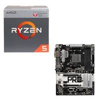 AMD Ryzen 5 2400G with Wraith Stealth Cooler, ASRock AB350 Pro4 CPU / Motherboard Bundle
