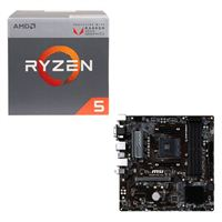 AMD Ryzen 5 2400G with Wraith Stealth Cooler, MSI B450M PRO-VDH CPU / Motherboard Bundle