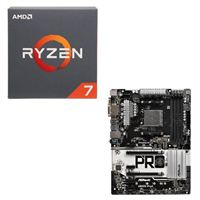 AMD Ryzen 7 2700 with Wraith Spire Cooler, ASRock AB350 Pro4 CPU / Motherboard Bundle