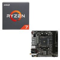 AMD Ryzen 7 2700 with Wraith Spire Cooler, ASRock Fatal1ty B450 Gaming CPU / Motherboard Bundle