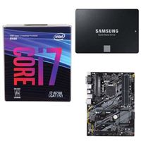 Intel Core i7-8700, Gigabyte H370 HD3 Motherboard, Samsung 860 EVO 500GB Internal SSD Computer Build Bundle