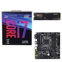 Intel Core i7-8700, Gigabyte H370M D3H Motherboard, Samsung 970 EVO 1TB M.2 2280 PCIe SSD Computer Build Bundle