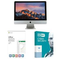 "Apple iMac 21.5"" All-in-One, Office Home and Business 2019, 3 Years ESET Cyber Security Desktop Computer Bundle"