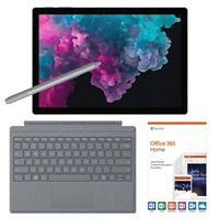 Microsoft Surface Pro 6 Black Bundle with Platinum Signature Type Cover, Platinum Surface Pen, and Microsoft Office 365 Home - 1 Year