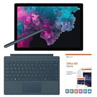 Microsoft Surface Pro 6 Black Bundle with Cobalt Blue Signature Type Cover, Cobalt Blue Surface Pen, and Microsoft Office 365 Home - 1 Year