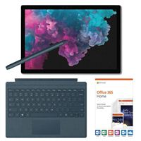 Microsoft Surface Pro 6 Platinum Bundle with Cobalt Blue Signature Type Cover, Cobalt Blue Surface Pen, and Microsoft Office 365 Home - 1 Year