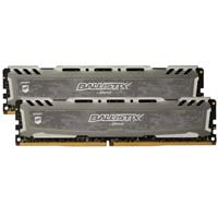 Crucial Ballistix Sport LT 32GB - Bundle of two 16GB DDR4-3000 PC4-24000 CL15 Memory Modules - Gray