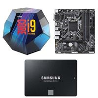 Intel Core i9-9900K, Gigabyte B360M DS3H, Samsung 860 EVO 2TB Internal SSD Bundle