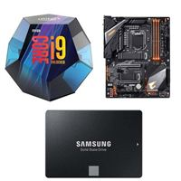 Intel Core i9-9900K, Gigabyte Z390 Aorus Pro WiFi, Samsung 860 EVO 2TB Internal SSD Bundle
