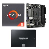 AMD Ryzen 5 2600 with Wraith Stealth Cooler, ASRock Fatal1ty B450 Gaming-ITX/ac, Samsung 860 EVO 2TB Internal SSD Bundle