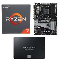 AMD Ryzen 7 2700 with Wraith Spire Cooler, ASRock B450 PRO4, Samsung 860 EVO 2TB Internal SSD Bundle