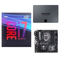 Intel Core i7-9700K, ASUS Prime H370M-Plus, Samsung 860 QVO 2TB 4-bit Internal SSD, Computer Build Bundle