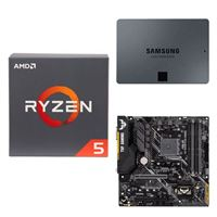 AMD Ryzen 5 2600 with Wraith Stealth Cooler, ASUS TUF B450M-PLUS Gaming, Samsung 860 QVO 2TB 4-bit Internal SSD, Computer Build Bundle