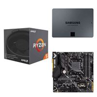 AMD Ryzen 5 2600X with Wraith Spire Cooler, ASUS TUF B450M-PLUS Gaming, Samsung 860 QVO 2TB 4-bit Internal SSD, Computer Build Bundle