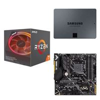AMD Ryzen 7 2700X with Wraith Prism Cooler, ASUS TUF B450M-PLUS Gaming, Samsung 860 QVO 1TB 4-bit Internal SSD, Computer Build Bundle