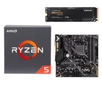 AMD Ryzen 5 2600 with Wraith Stealth Cooler, ASUS TUF B450M-PLUS Gaming, Samsung 970 EVO+ 1TB M.2 2280 PCIe SSD, Computer Build Bundle