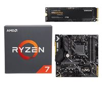 AMD Ryzen 7 2700 with Wraith Spire Cooler, ASUS TUF B450M-PLUS Gaming, Samsung 970 EVO+ 1TB M.2 2280 PCIe SSD, Computer Build Bundle