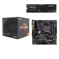 AMD Ryzen 5 2600X with Wraith Spire Cooler, ASUS TUF B450M-PLUS Gaming, Samsung 970 EVO+ 1TB M.2 2280 PCIe SSD, Computer Build Bundle