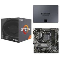 AMD Ryzen 5 2600X with Wraith Spire Cooler, ASRock B450M Pro4 AM4, Samsung 860 QVO 2TB 4-bit Internal SSD, Computer Build Bundle